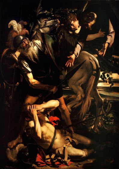 Caravaggio, Michelangelo Merisi da: The Conversion of Saint Paul. Fine Art Print/Poster. Sizes: A4/A3/A2/A1 (002065)